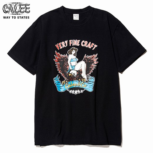 CALEE Eagle Girl T-shirt<img class='new_mark_img2' src='//img.shop-pro.jp/img/new/icons6.gif' style='border:none;display:inline;margin:0px;padding:0px;width:auto;' />