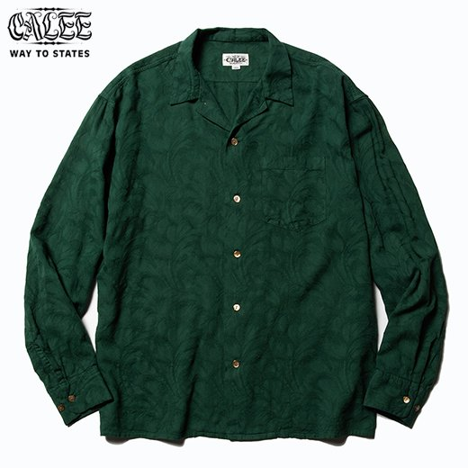 CL-528 Jacquard Feather Pattern L/S Shirt<img class='new_mark_img2' src='https://img.shop-pro.jp/img/new/icons50.gif' style='border:none;display:inline;margin:0px;padding:0px;width:auto;' />