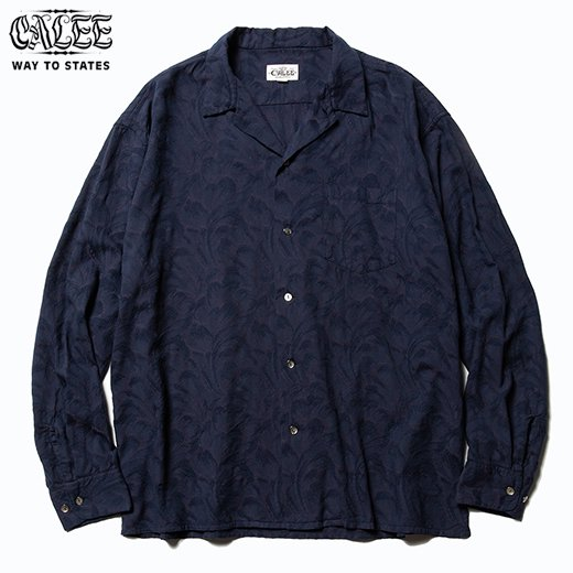 CL-529 Jacquard Feather Pattern L/S Shirt<img class='new_mark_img2' src='https://img.shop-pro.jp/img/new/icons50.gif' style='border:none;display:inline;margin:0px;padding:0px;width:auto;' />