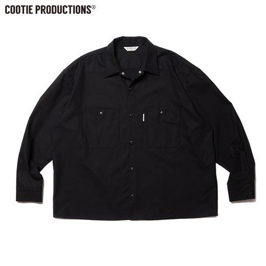COOTIE Hard Twist Yarn Gabardhine Work Shirt