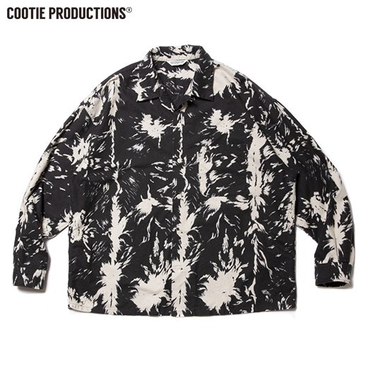 COOTIE Wolf Print Nel Open Collar Shirt   <img class='new_mark_img2' src='https://img.shop-pro.jp/img/new/icons50.gif' style='border:none;display:inline;margin:0px;padding:0px;width:auto;' />