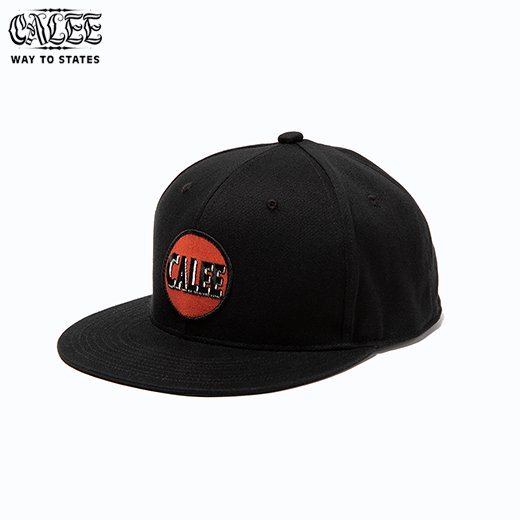 CALEE Cotton twill wappen cap<img class='new_mark_img2' src='https://img.shop-pro.jp/img/new/icons6.gif' style='border:none;display:inline;margin:0px;padding:0px;width:auto;' />