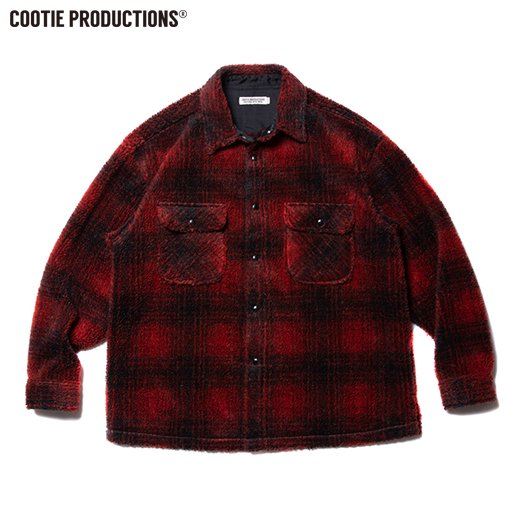 COOTIE Ombre Boa Check CPO Jacket