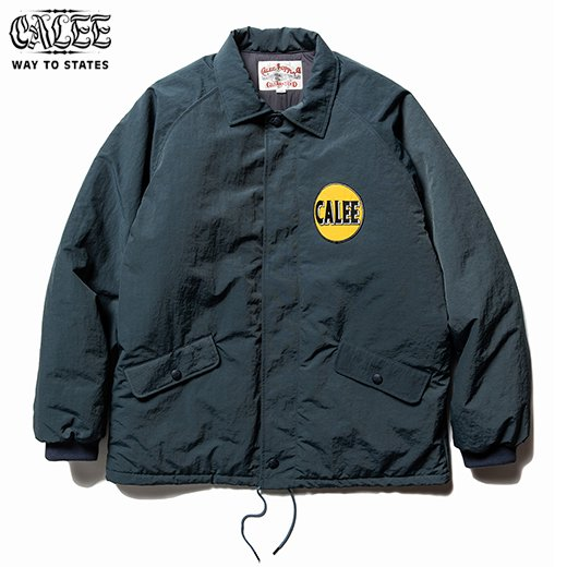 CALEE  Nylon Coach Wappen Jacket<img class='new_mark_img2' src='https://img.shop-pro.jp/img/new/icons6.gif' style='border:none;display:inline;margin:0px;padding:0px;width:auto;' />