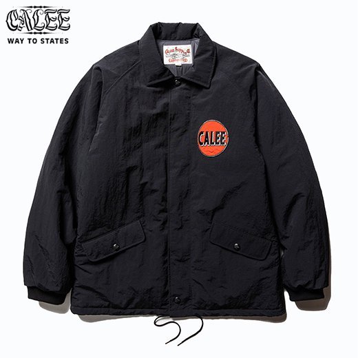 CALEE  Nylon Coach Wappen Jacket<img class='new_mark_img2' src='https://img.shop-pro.jp/img/new/icons50.gif' style='border:none;display:inline;margin:0px;padding:0px;width:auto;' />