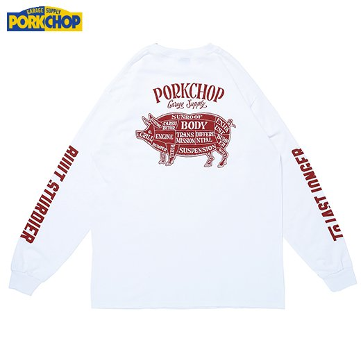 PORKCHOP Pork Back L/S Tee<img class='new_mark_img2' src='https://img.shop-pro.jp/img/new/icons7.gif' style='border:none;display:inline;margin:0px;padding:0px;width:auto;' />