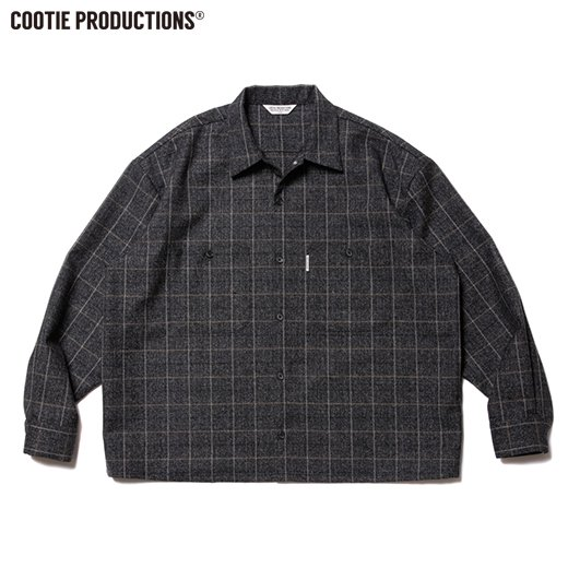 COOTIE Melange Wool Work Shirt