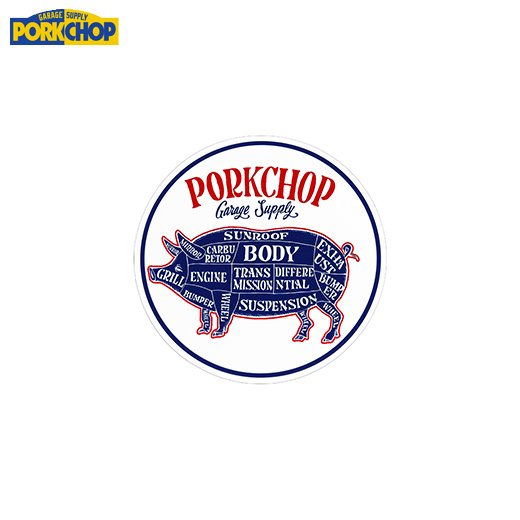 PORKCHOP Circle Sticker<img class='new_mark_img2' src='https://img.shop-pro.jp/img/new/icons7.gif' style='border:none;display:inline;margin:0px;padding:0px;width:auto;' />