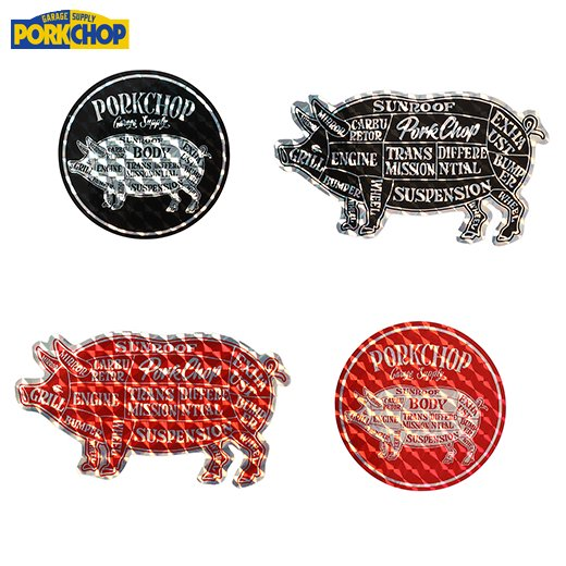 PORKCHOP Hologram Sticker Set<img class='new_mark_img2' src='https://img.shop-pro.jp/img/new/icons50.gif' style='border:none;display:inline;margin:0px;padding:0px;width:auto;' />