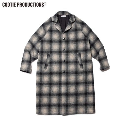 COOTIE Napping Ombre Check Shop Coat