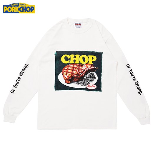 PORKCHOP Chop L/S Tee<img class='new_mark_img2' src='https://img.shop-pro.jp/img/new/icons50.gif' style='border:none;display:inline;margin:0px;padding:0px;width:auto;' />