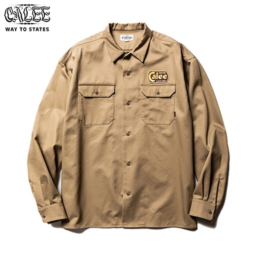 CALEE  Cotton Twill L/S Wappen Work Shirt<img class='new_mark_img2' src='https://img.shop-pro.jp/img/new/icons50.gif' style='border:none;display:inline;margin:0px;padding:0px;width:auto;' />