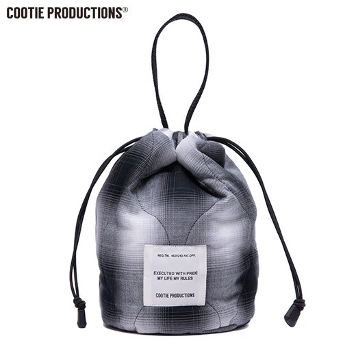 COOTIE Ombre Check Quilting Drawstring Bag