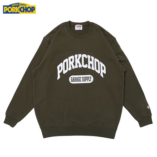 PORKCHOP College Sweat<img class='new_mark_img2' src='https://img.shop-pro.jp/img/new/icons50.gif' style='border:none;display:inline;margin:0px;padding:0px;width:auto;' />