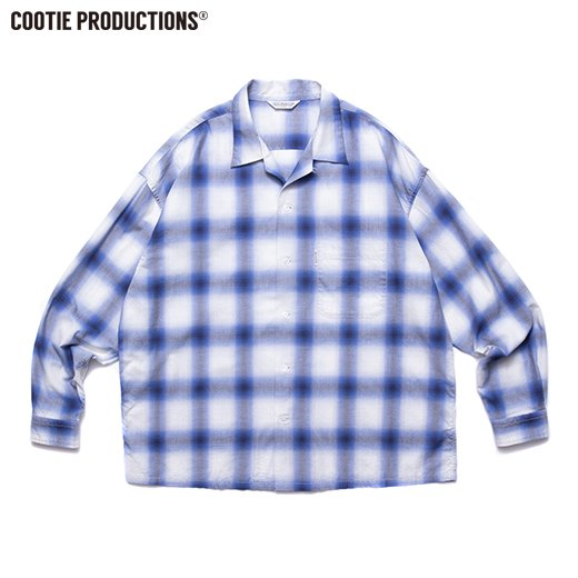 COOTIE Ombre Check Open Collar Shirt<img class='new_mark_img2' src='https://img.shop-pro.jp/img/new/icons7.gif' style='border:none;display:inline;margin:0px;padding:0px;width:auto;' />
