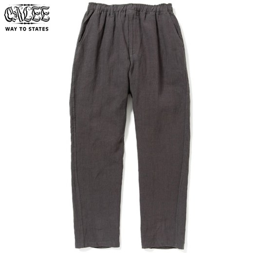 CALEE Linen Tapered Pants<img class='new_mark_img2' src='https://img.shop-pro.jp/img/new/icons6.gif' style='border:none;display:inline;margin:0px;padding:0px;width:auto;' />