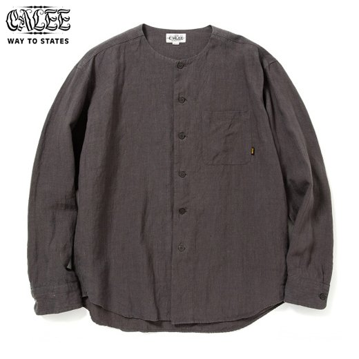 CALEE Linen No Collar L/S Shirt<img class='new_mark_img2' src='https://img.shop-pro.jp/img/new/icons50.gif' style='border:none;display:inline;margin:0px;padding:0px;width:auto;' />