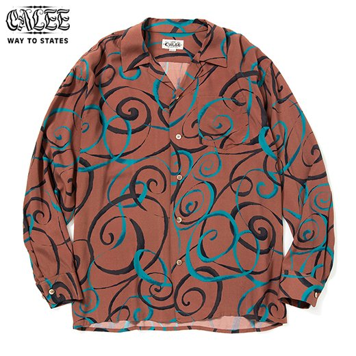CALEE Allover Spiral Pattern L/S Shirt<img class='new_mark_img2' src='https://img.shop-pro.jp/img/new/icons50.gif' style='border:none;display:inline;margin:0px;padding:0px;width:auto;' />