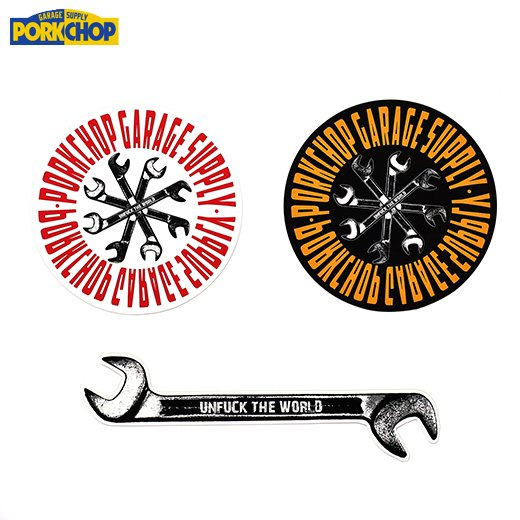 PORKCHOP Wrench Sticker Set<img class='new_mark_img2' src='https://img.shop-pro.jp/img/new/icons50.gif' style='border:none;display:inline;margin:0px;padding:0px;width:auto;' />