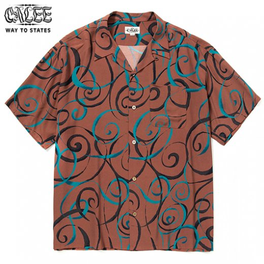 CALEE Allover Spiral Pattern S/S Shirt<img class='new_mark_img2' src='https://img.shop-pro.jp/img/new/icons50.gif' style='border:none;display:inline;margin:0px;padding:0px;width:auto;' />