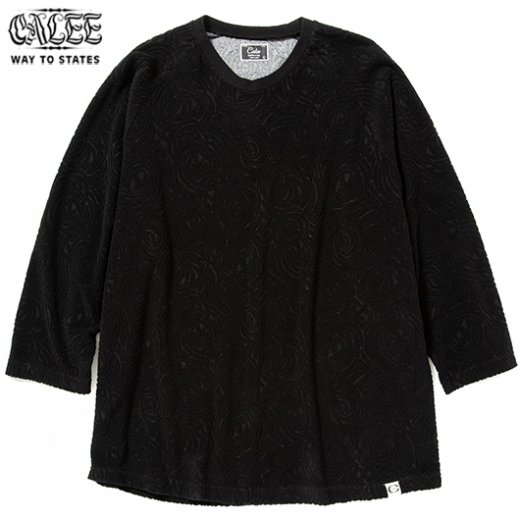 CALEE Spiral Pattern Pile Jacquard 3/4 Raglan Sleeve T-shirt<img class='new_mark_img2' src='https://img.shop-pro.jp/img/new/icons50.gif' style='border:none;display:inline;margin:0px;padding:0px;width:auto;' />