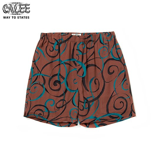 CALEE Allover Spiral Pattern Short Pants<img class='new_mark_img2' src='https://img.shop-pro.jp/img/new/icons50.gif' style='border:none;display:inline;margin:0px;padding:0px;width:auto;' />