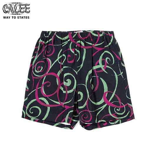CALEE Allover Spiral Pattern Short Pants<img class='new_mark_img2' src='https://img.shop-pro.jp/img/new/icons6.gif' style='border:none;display:inline;margin:0px;padding:0px;width:auto;' />