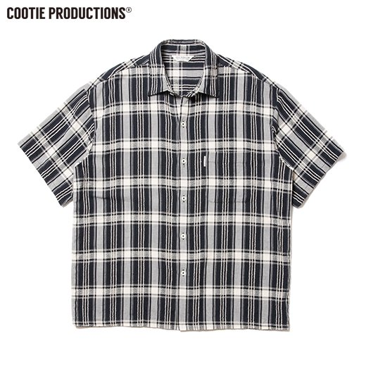 COOTIE Jacquard Check S/S Shirt<img class='new_mark_img2' src='https://img.shop-pro.jp/img/new/icons7.gif' style='border:none;display:inline;margin:0px;padding:0px;width:auto;' />