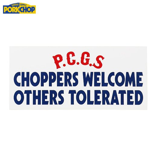 PORKCHOP CHOPPERS WELCOME Sticker <img class='new_mark_img2' src='https://img.shop-pro.jp/img/new/icons50.gif' style='border:none;display:inline;margin:0px;padding:0px;width:auto;' />