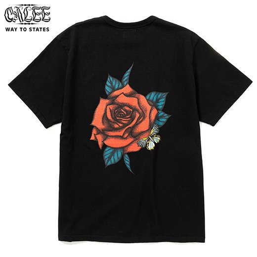 CALEE Binder Neck Rose Vintage T-shirt<img class='new_mark_img2' src='https://img.shop-pro.jp/img/new/icons50.gif' style='border:none;display:inline;margin:0px;padding:0px;width:auto;' />