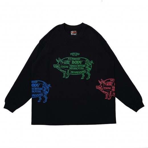 PORKCHOP Multi Pork L/S Tee<img class='new_mark_img2' src='https://img.shop-pro.jp/img/new/icons50.gif' style='border:none;display:inline;margin:0px;padding:0px;width:auto;' />