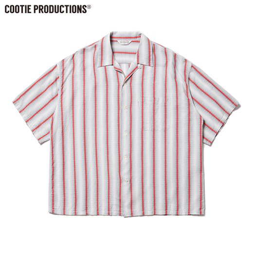 COOTIE Snake Stripe Open-Neck S/S Shirt<img class='new_mark_img2' src='https://img.shop-pro.jp/img/new/icons7.gif' style='border:none;display:inline;margin:0px;padding:0px;width:auto;' />