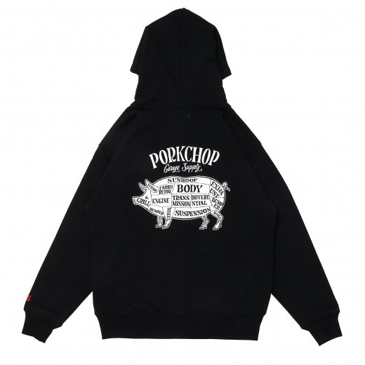 PORKCHOP Pork Back Zip up Hoodie<img class='new_mark_img2' src='https://img.shop-pro.jp/img/new/icons7.gif' style='border:none;display:inline;margin:0px;padding:0px;width:auto;' />