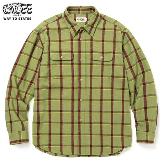 CALEE 6/6 Twill L/S Check Shirt<img class='new_mark_img2' src='https://img.shop-pro.jp/img/new/icons6.gif' style='border:none;display:inline;margin:0px;padding:0px;width:auto;' />