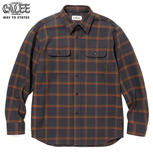 CALEE 6/6 Twill L/S Check Shirt<img class='new_mark_img2' src='https://img.shop-pro.jp/img/new/icons50.gif' style='border:none;display:inline;margin:0px;padding:0px;width:auto;' />