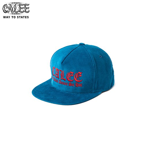 CALEE Embroidery Corduroy Cap<img class='new_mark_img2' src='https://img.shop-pro.jp/img/new/icons50.gif' style='border:none;display:inline;margin:0px;padding:0px;width:auto;' />