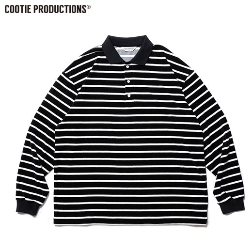 COOTIE Velour Border L/S Polo<img class='new_mark_img2' src='https://img.shop-pro.jp/img/new/icons50.gif' style='border:none;display:inline;margin:0px;padding:0px;width:auto;' />