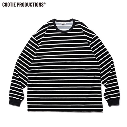 COOTIE Velour Border L/S Tee<img class='new_mark_img2' src='https://img.shop-pro.jp/img/new/icons7.gif' style='border:none;display:inline;margin:0px;padding:0px;width:auto;' />