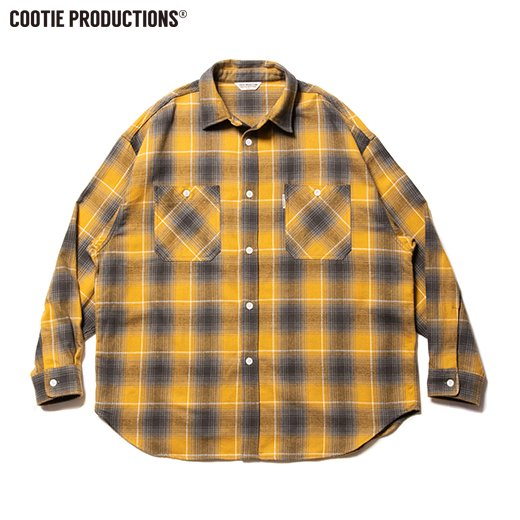 COOTIE Ombre Nel Check Work Shirt<img class='new_mark_img2' src='https://img.shop-pro.jp/img/new/icons7.gif' style='border:none;display:inline;margin:0px;padding:0px;width:auto;' />