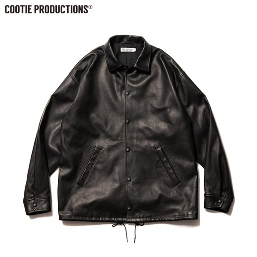 COOTIE Leather Coach Jacket<img class='new_mark_img2' src='https://img.shop-pro.jp/img/new/icons7.gif' style='border:none;display:inline;margin:0px;padding:0px;width:auto;' />