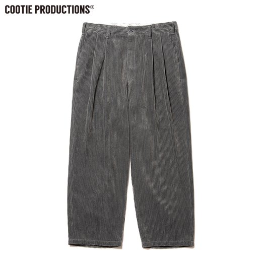 COOTIE Wide Corduroy 2 Tuck Trousers<img class='new_mark_img2' src='https://img.shop-pro.jp/img/new/icons7.gif' style='border:none;display:inline;margin:0px;padding:0px;width:auto;' />