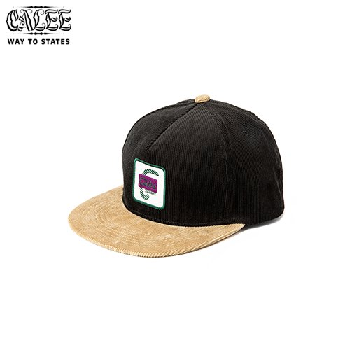 CALEE Corduroy two tone wappen cap<img class='new_mark_img2' src='https://img.shop-pro.jp/img/new/icons6.gif' style='border:none;display:inline;margin:0px;padding:0px;width:auto;' />