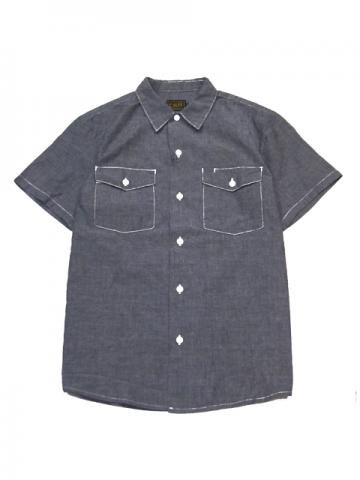 CL-335 S/S Washed Chambray Shirt 40%OFF<img class='new_mark_img2' src='//img.shop-pro.jp/img/new/icons24.gif' style='border:none;display:inline;margin:0px;padding:0px;width:auto;' />
