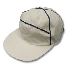 90's POLOSPO PIPING CAP [NATURAL-NAVY PIPING]