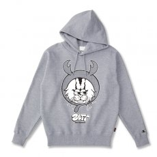 DORCUS X IBUCHANG X ZETT THE INFINITE 10.0oz POCKETLESS HOODIE [HEATHER GREY]