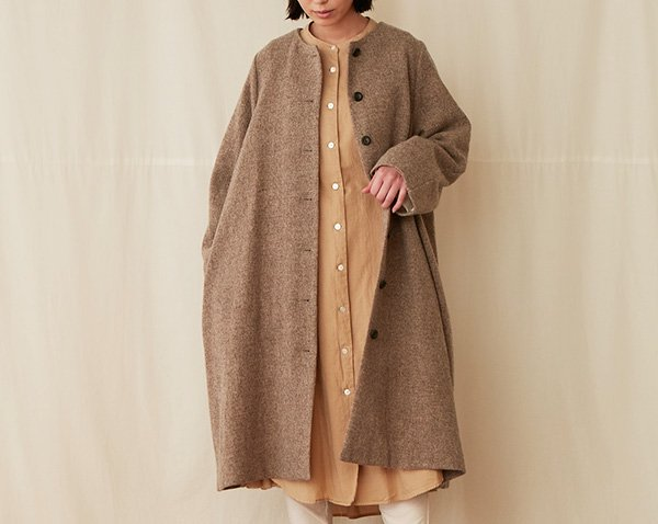 no-collar coat