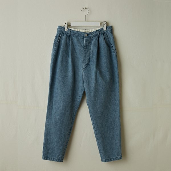 |先行予約| tapered denim pants