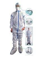 高ウイルスバリア感染症対策防護服 4点セット×25セット
