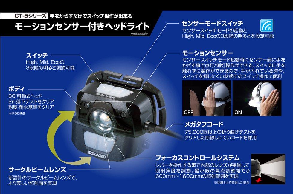 【在庫限り特価】GT-501D  GENTOS ジェントスヘッドライト 【画像3】