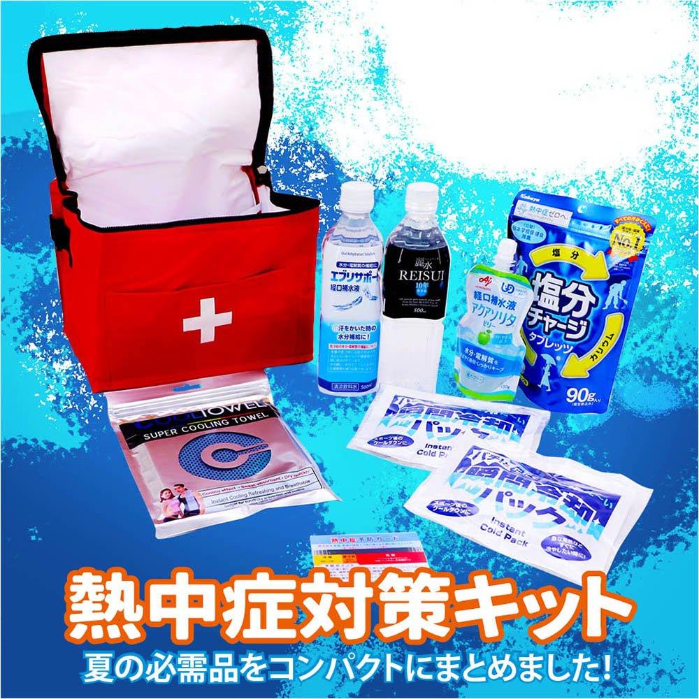 熱中症対策キット コンパクトなクーラーバッグに入ったセット【画像2】